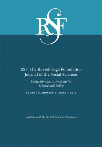 RSF: The Russell Sage Foundation Journal of the Social Sciences: 5 (3)